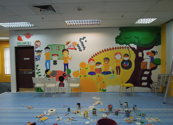'Brighter You' programme - Mural Painting at Sun Life Malaysia